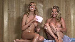 Dirty Talks In Sauna With Ainsley Addison