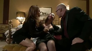 Maid Lizzy London Gets Into Kinky Bondage Group Sex