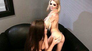 Gorgeous Lesbian Scene With The Lovely Dani And Jana