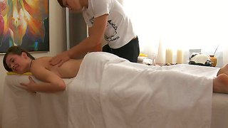 Young Nadya Receives More Than Just Massage From Naughty Masseur With Long Cock