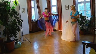 Sophie Mei And Shione Cooper Belly Dancing