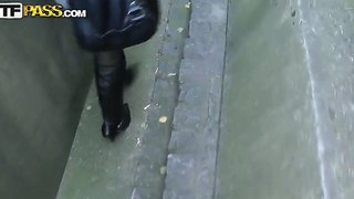 Adorable Teen Whore, Kristene, Gets Paied And Penetrated Really Hard Somewhere Outside