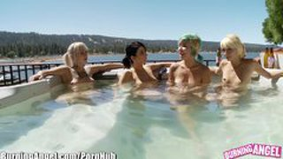 Burning Angel Punk Rock Lesbian Hot Tub Orgy