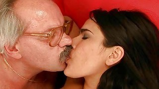 Lovely Teen Fucking With Horny Grandpa
