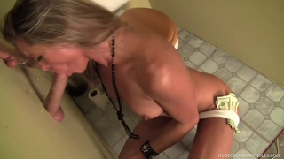 Amanda Gobbles Cock At Filthy Gloryhole